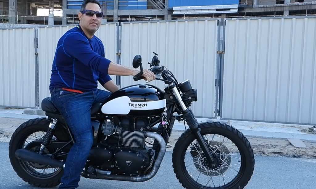 Custom Catch-Episode 1-Andrew-Sweet Baby Bonnie-Custom-2014 Triumph Bonnie T100-BNM_UAE_Dubai