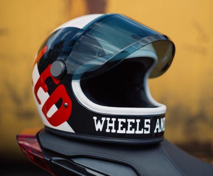 indian motorcycle wheels & waves helmet