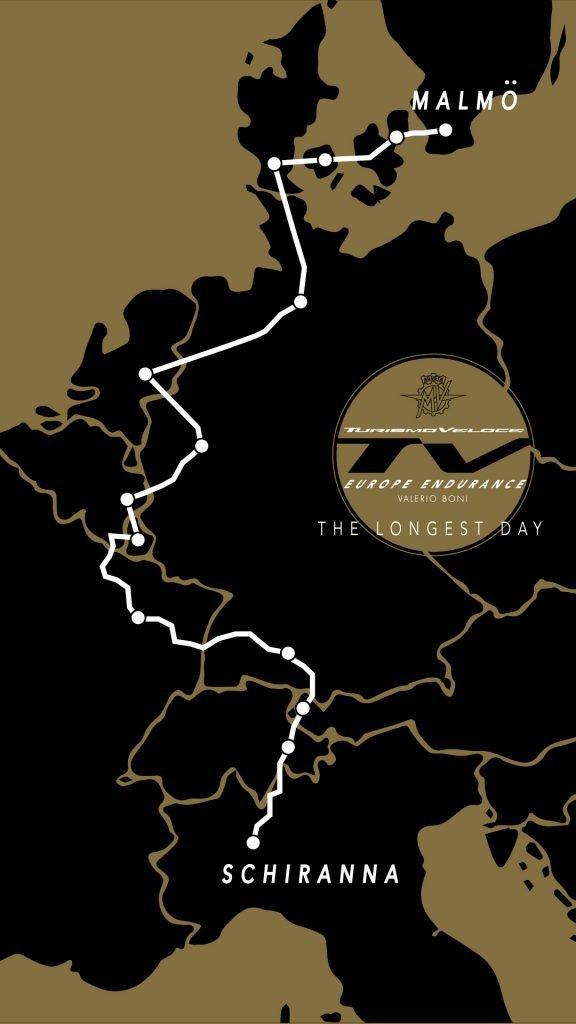 mv agusta world record attempt map